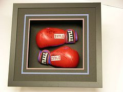 Framed boxing gloves