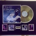 Record framed with photos