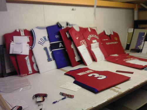 Padded Football Shirts Ready For Framing
