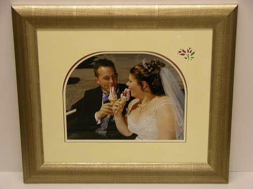 Framed Wedding Photo