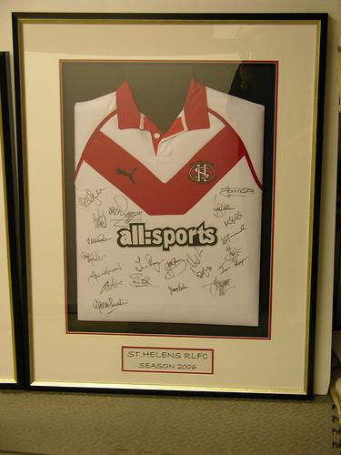 Framed St Helens Rugby Shirt
