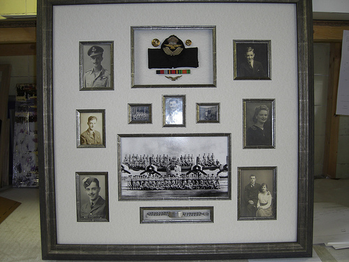 Framed War Memorabilia