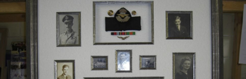 War memorabilia frame - banner